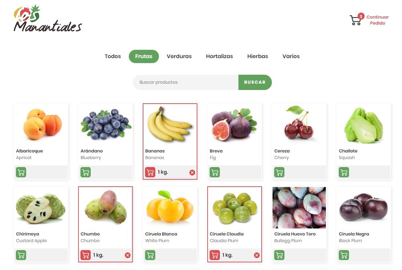 comprar frutas online